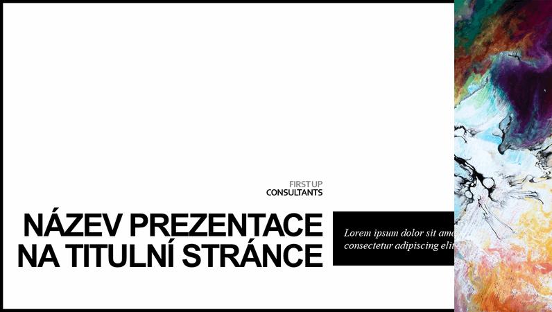 Minimalistická barevná prezentace