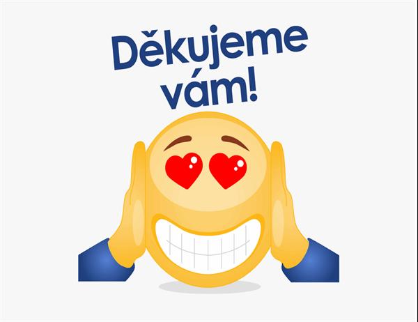 Poděkování s emoji