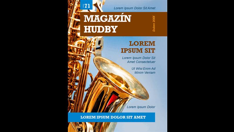 Titulní stránky časopisu o hudbě