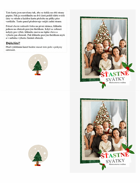 Vánoční kartička s koláží fotografií