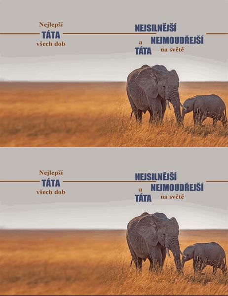 Přání ke Dni otců s moudrým slonem