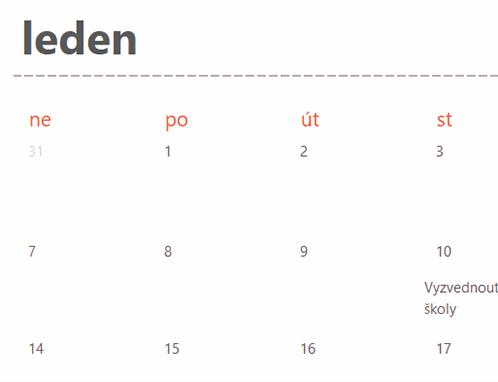 Listy pro stále aktuální kalendář (bílé)