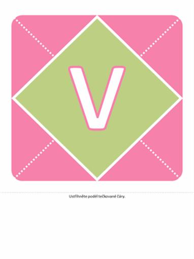 Nápis Vítej holčičko (růžová, fialová, zelená)