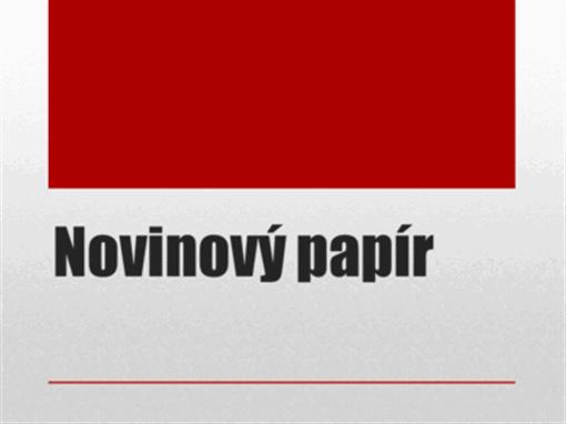 Novinový papír