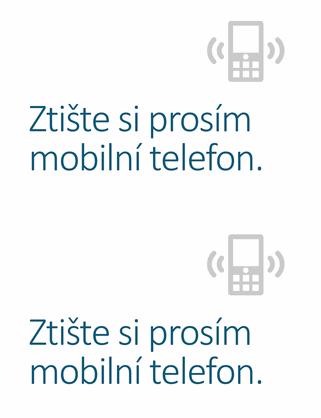 Plakát s připomínkou o vypnutí telefonu