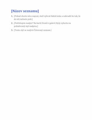 Jednoduchý seznam