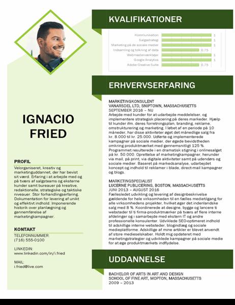 CV til marketingstillinger