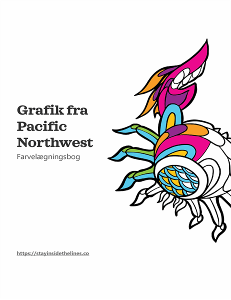 Billedkunst fra malebogen Pacific Northwest