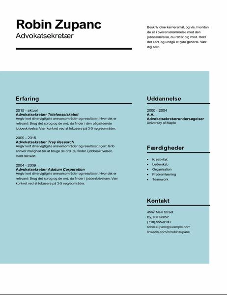 Virkningsfuldt CV