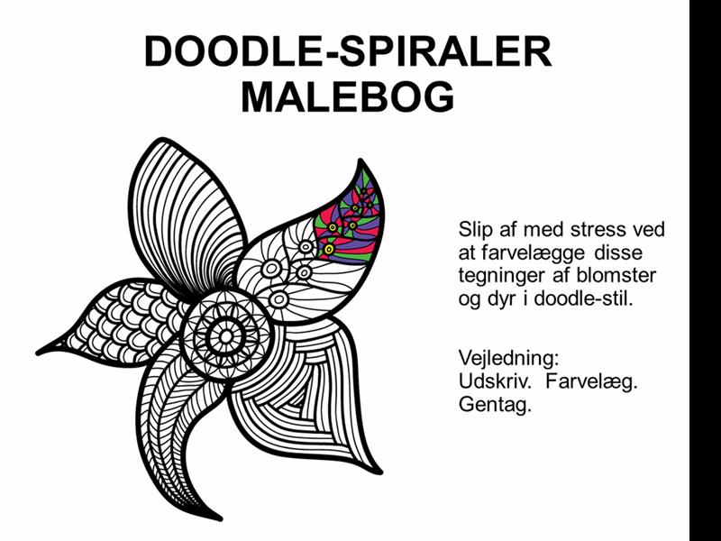 Malebog med doodle-spiraler