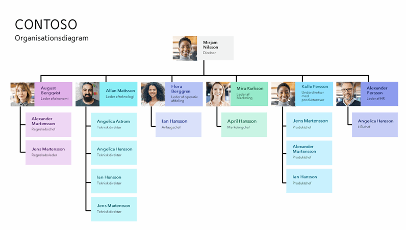 Minimalistisk organisationsdiagram