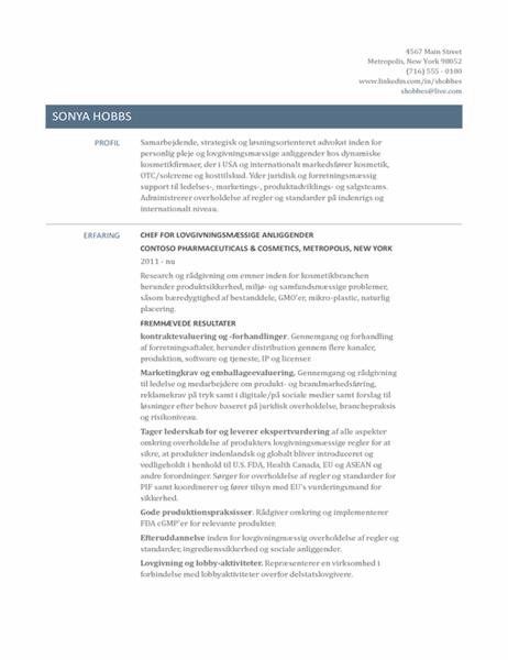 CV, der er rettet mod chefer for lovgivningsaktiviteter
