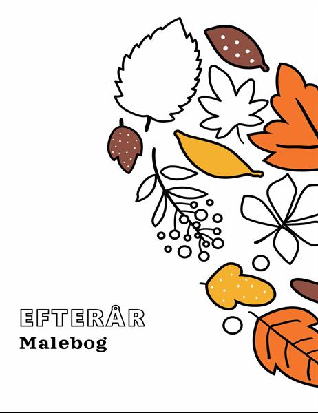 Malebog med efterårstema