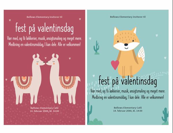 Invitation til Valentinsdag for børn