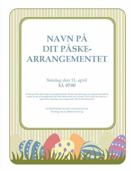 Løbeseddel til påskearrangement (med æg)