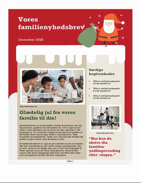 Familienyhedsbrev til jul