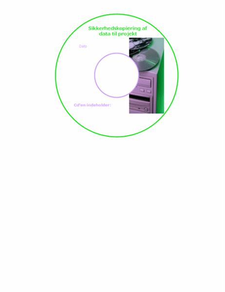 Datasikkerhedskopi, cd-etiketter