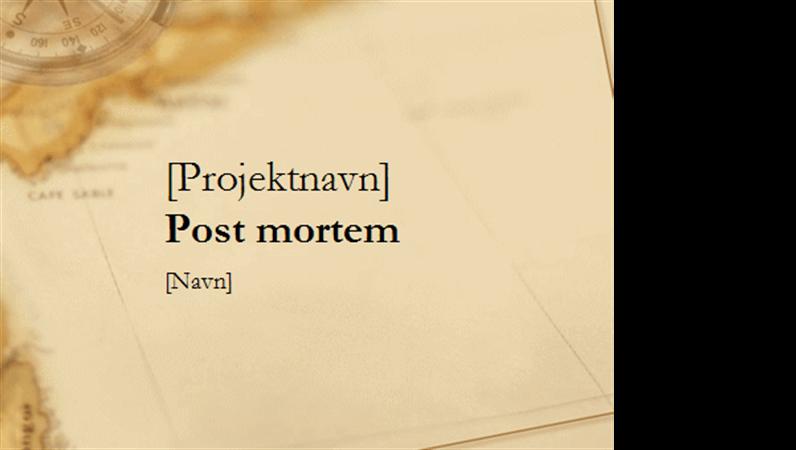 Præsentation til projektopfølgning