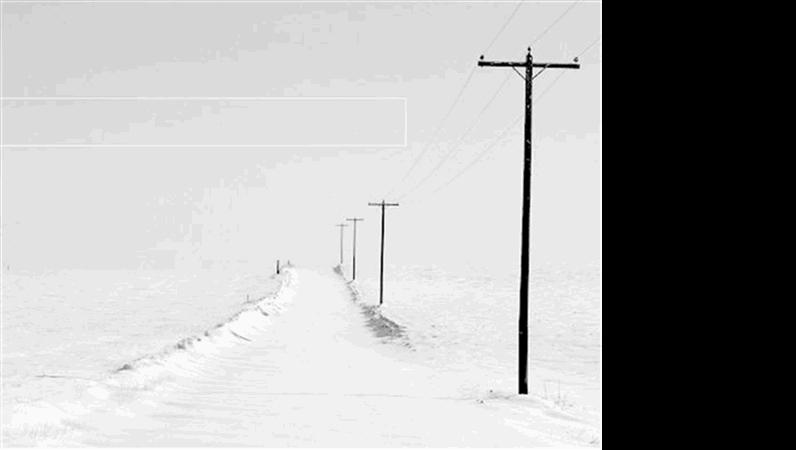 Snedækket vej, designskabelon