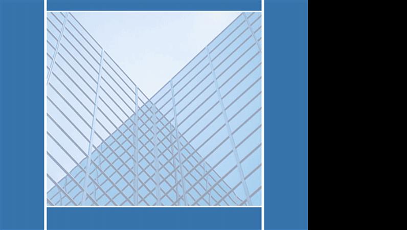 Designskabelon med spejlede bygninger