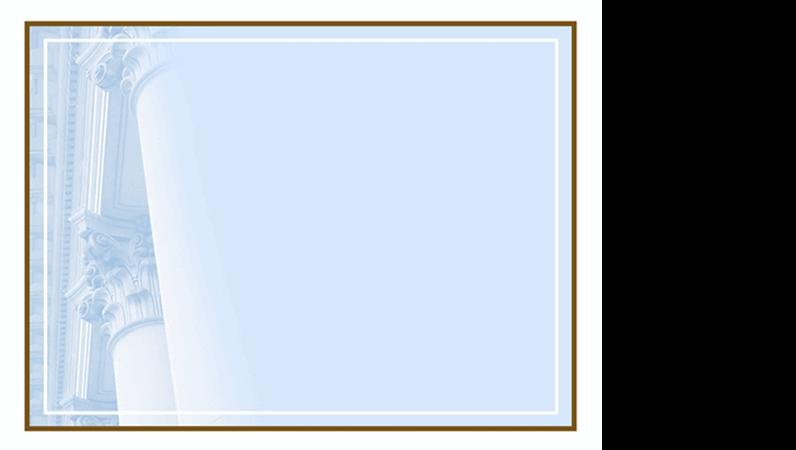 Designskabelon med korintiske søjler