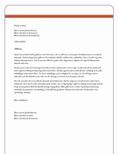 Flettebrev til brev (temaet Aktier)