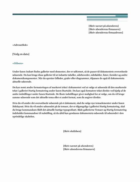 Flettebrev til brev (temaet Urban)