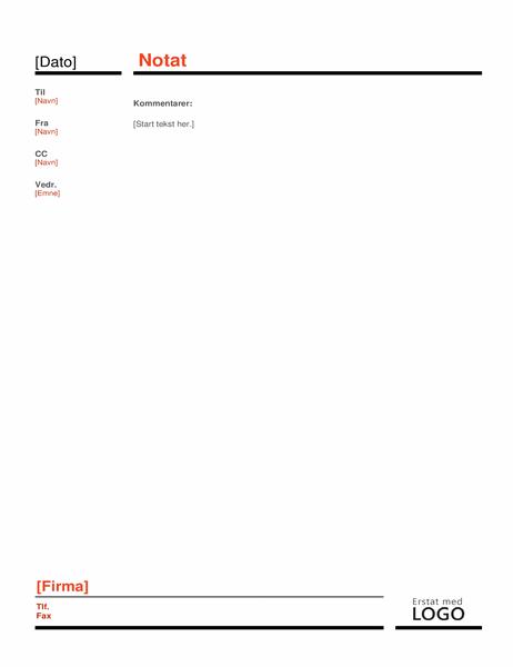 Erhvervsmemo  (red)
