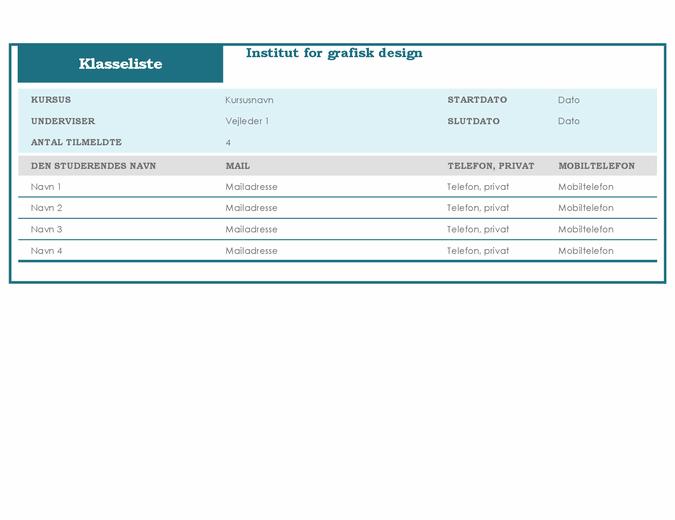 Klasseliste