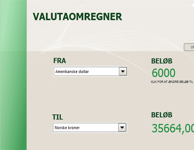 Valutaomregner