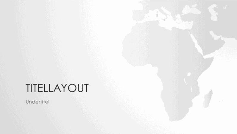 Verdenskortserien, præsentation med det afrikanske kontinent (widescreen)