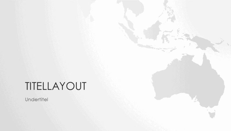 Verdenskortserien, præsentation med det australske kontinent (widescreen)