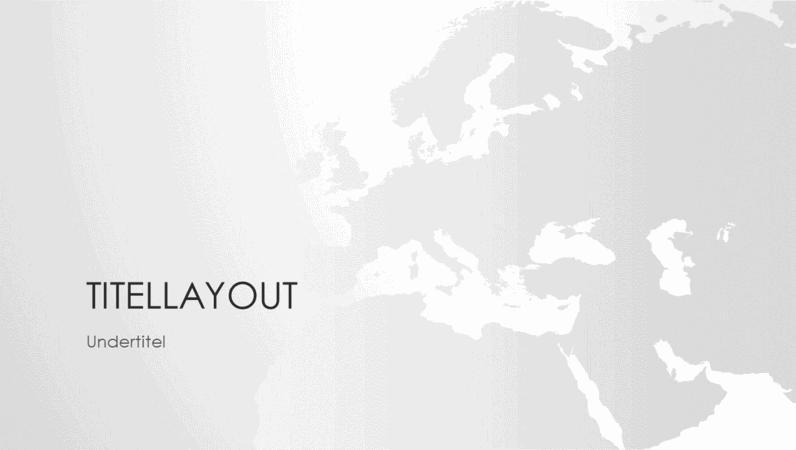 Verdenskortserien, præsentation med det europæiske kontinent (widescreen)