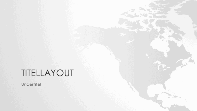 Serie med verdenskort, præsentation om det nordamerikanske kontinent (widescreen)