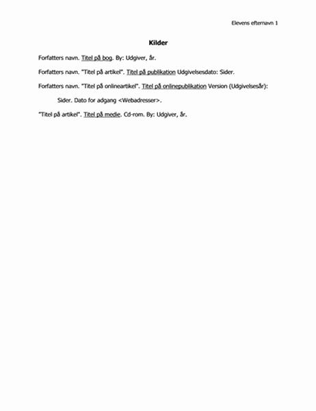 Liste over citerede værker i MLA-format