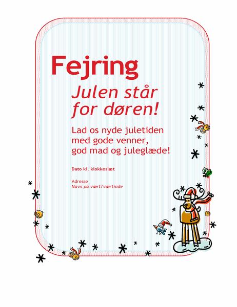 Invitation til julefrokost