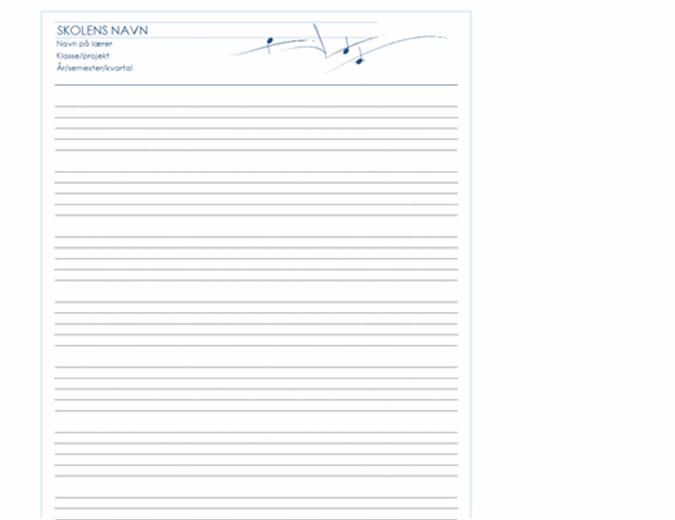 Generisk papir til medarbejdere (stående, 8/s)