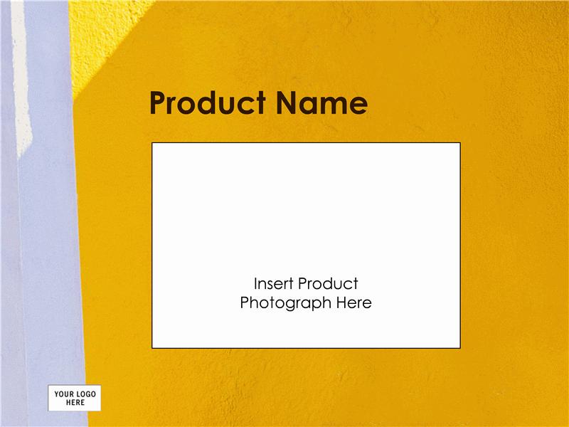 Præsentation til produktoversigt