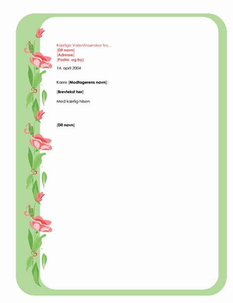 Brevpapir til Valentinsdag