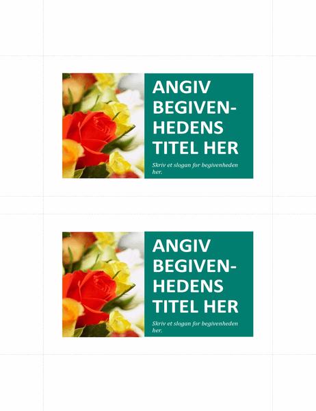 Promoveringspostkort (to pr. side)