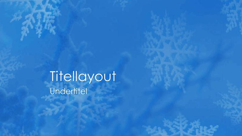 Slides til snefnug-designskabelon