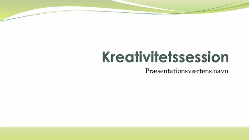 Præsentation til brainstorming i virksomheder