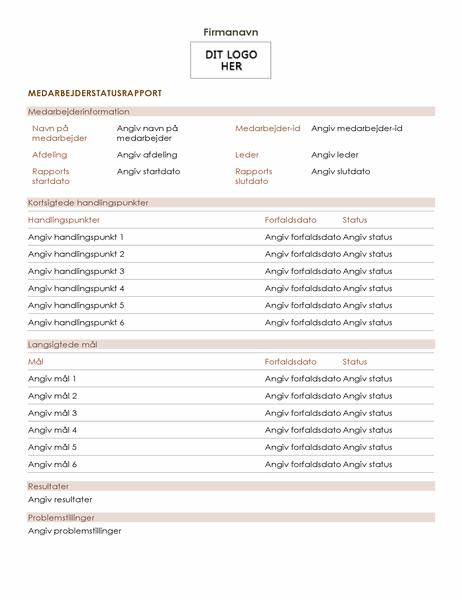 Medarbejderstatusrapport