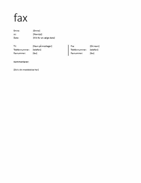 Faxforside (uformel)