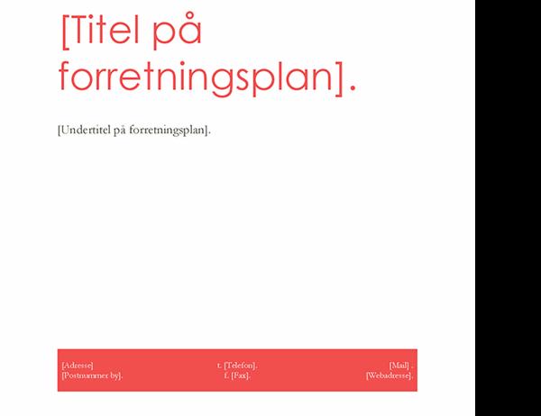 Forretningsplan (rødt design)