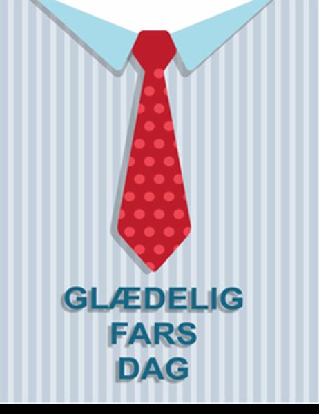 Fars dag-kort med slips (foldet på kryds)