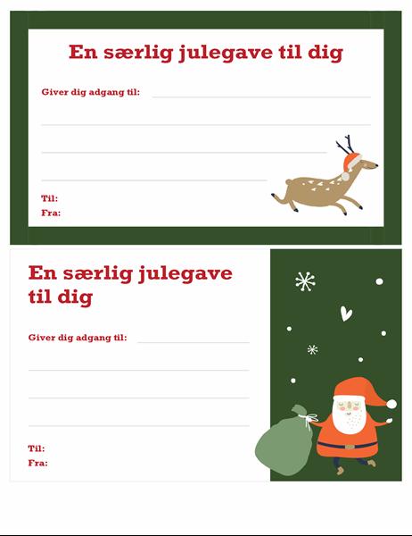 Julegavekort (design med julestemning)