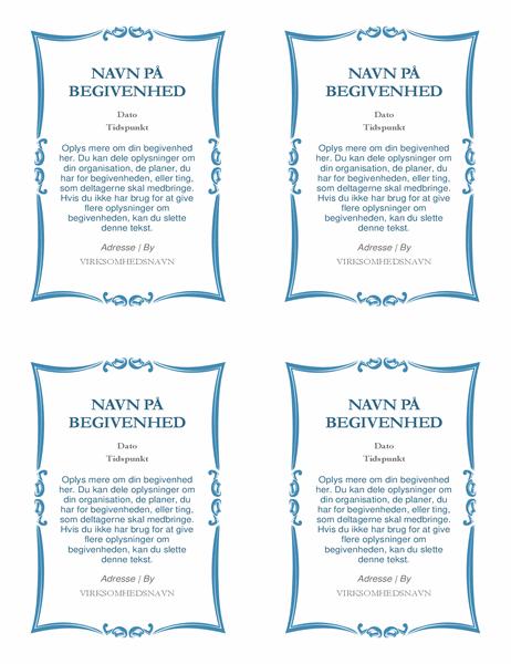 Invitationer til begivenheder (4 pr. side)