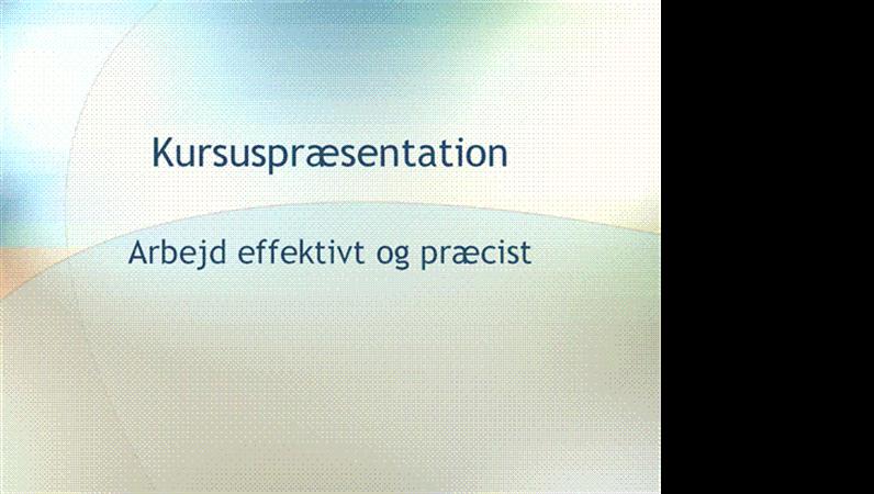 Præsentation til uddannelsesseminar