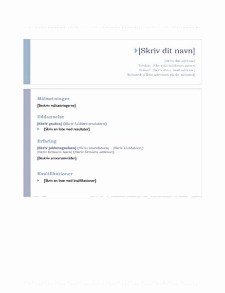 CV (oprindelsesdesign)